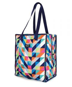 Freezable Grocery Shopping Bag with Zip Closure, Paradise Breeze Design