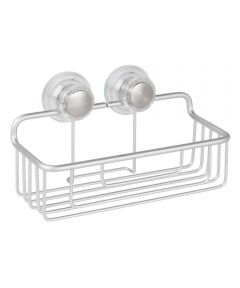 Metro Aluminum Turn-N-Lock Suction Basket, Silver