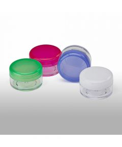 10 Milliliter Clear Pill Container, Assorted Colors