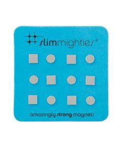 Slim Mighties Neodymium Magnets, 12 Pack