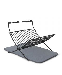 XDry Folding Dish Rack with Drying Mat