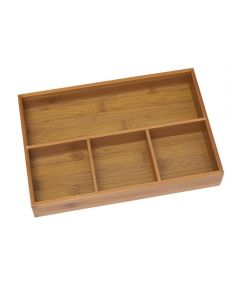 Bamboo Organizer Tray with 4 Compartments