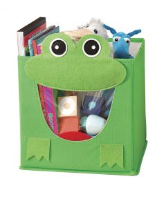 Green Frog Collapsible Storage Cube