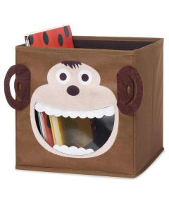 Brown Monkey Collapsible Storage Cube