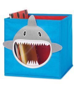 Grey Shark Collapsible Storage Cube