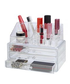 Clearly Chic 19-Compartment Cosmetic Organizer
