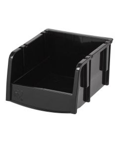 Extra Small Open Front Storage Bin, Black