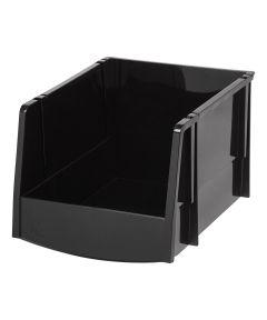 Extra Large Open Front Storage Bin, Black