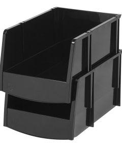 Jumbo Open Front Storage Bin, Black