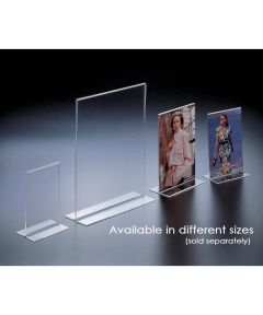 Acrylic 5 x 7 Inch Double Footed Portrait Picture Frame