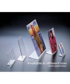 Acrylic 8.5 x 11 Inch L-Shape Portrait Picture Frame