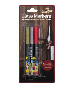 Glass Writing Markers, 3 Pack