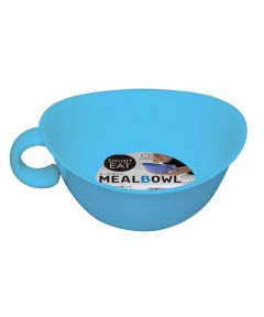 Meal Bowl with Handle, Blue