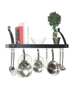 Steel Bookshelf Pot Rack