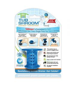 Tubshroom Bathtub Drain Strainer Hair Catcher, Blue