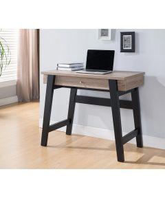 36 in. Wide Writing Desk with Single Drawer, Whitewash & Black