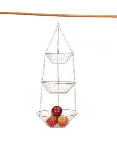 3-Tier Chrome Wire Hanging Basket