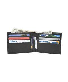 RFID Blocking Classic Billfold Wallet, Black