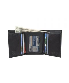 RFID Blocking Classic Trifold Wallet, Black