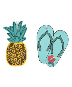 Set of 2 Luggage Tags, Pineapple and Flip Flops