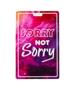 Personal Expression Luggage Tag, Sorry