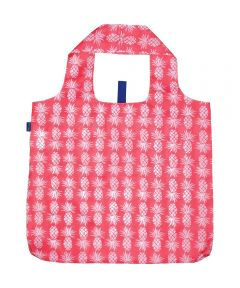 Pineapple Pink Blu Bag  Reusable Shopping Bag with Storage Pouch