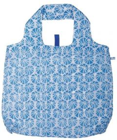 Sea Urchin Blue Blu Bag  Reusable Shopping Bag with Storage Pouch