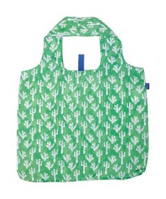 Cactus Green Blu Bag  Reusable Shopping Bag with Storage Pouch