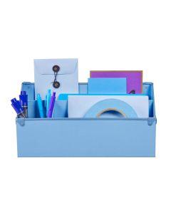 Frisco Desk Organizer, Periwinkle/Cornflower