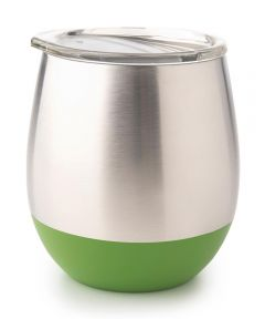 Insulated Stainless Steel Tumbler, 8 oz., Grass