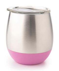 Insulated Stainless Steel Tumbler, 8 oz., Pink