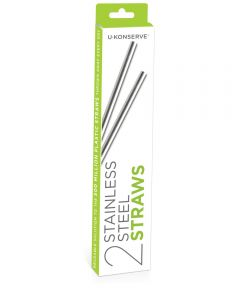 Stainless Steel Drinking Straws (2-Pack)