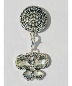 Attractable Silver Butterfly Dangle Jewelry Purse Charm and Magnetic Key Holder