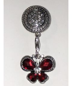 Attractable Red Butterfly Dangle Jewelry Purse Charm and Magnetic Key Holder