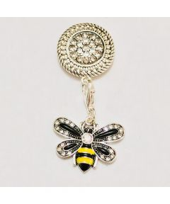 Attractable Bumble Bee Dangle Jewelry Purse Charm and Magnetic Key Holder