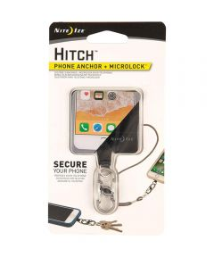 Hitch Phone Anchor + MicroLock for Drop Protection, Stainless Microlock