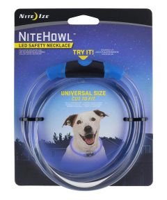 NiteHowl LED Safety Necklace for Dogs, Blue