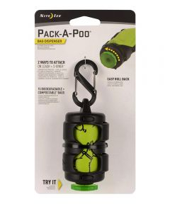 Pack-A-Poo Bag Dispenser for Dogs with #2 S-Biner
