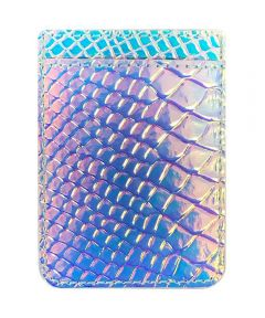 Hologram Snakeskin Peel-and-Stick Phone Pocket Card Holder