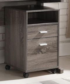 2-Drawer File Cabinet with Wheels, Gray