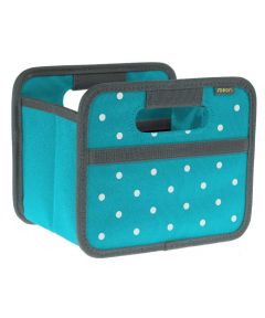 Classic Mini Foldable Storage Box in Azure Blue with Dots