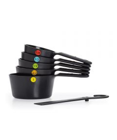OXO Good Grips 6-Piece Plastic Measuring Cups, Snaps, Black