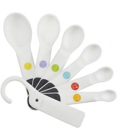 OXO Good Grips 7 Piece Plastic Measuring Spoons, White