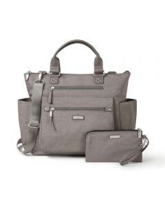 3-in-1 Convertible Backpack with RFID Phone Wristlet, Sterling Shimmer Gray