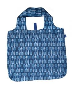 Wimbeldon Navy Blu Bag  Reusable Shopping Bag with Storage Pouch