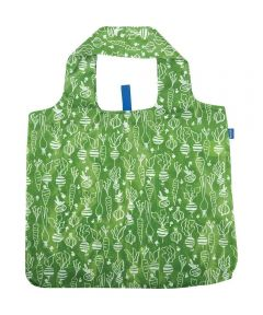 Veggies Green Blu Bag  Reusable Shopping Bag with Storage Pouch