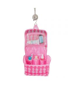 Pineapple Pink Hanging Toiletry Bag