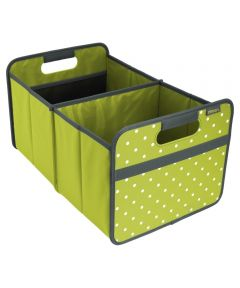 Classic Large Foldable Storage Box in Spring Green with Dots