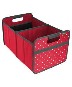 Classic Large Foldable Storage Box in Hibiscus Red with Dots