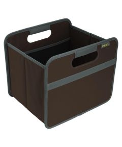 Classic Small Foldable Storage Box in Solid Cacao Brown